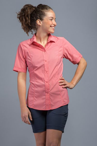 Tatonka Sejo W's Short Sleeve Shirt coral red rot Blusen & Hemden 4013236342079