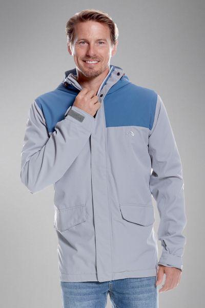 Tatonka Jons M's Hooded Jacket lighter blue/grey blau Jacken 4013236299991