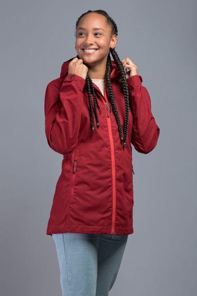 Tatonka Jesper W's Hooded Jacket lava red rot Jacken 4013236342383