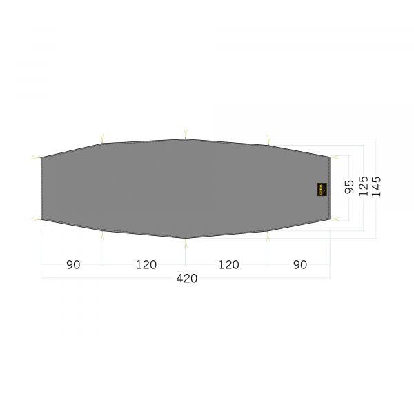 Tatonka Floor Sheet LT Rokua 2 stone grey olive grau Zelt- & Tarpzubehör 4013236340266
