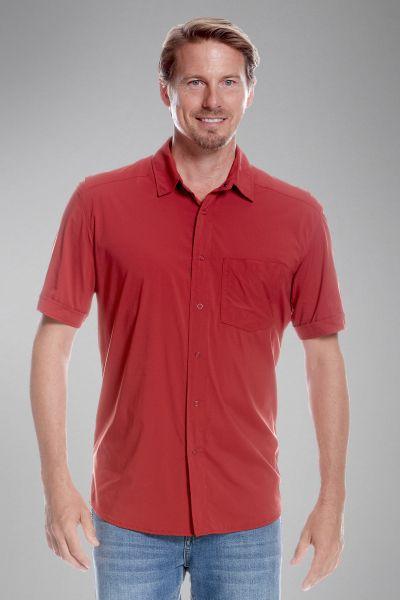 Tatonka Sejo M's Short Sleeve Shirt lava red rot Hemden 4013236295535