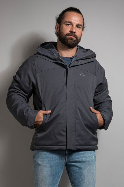 Tatonka Stir M's Hooded Jacket grey blue grau Jacken 4013236308112