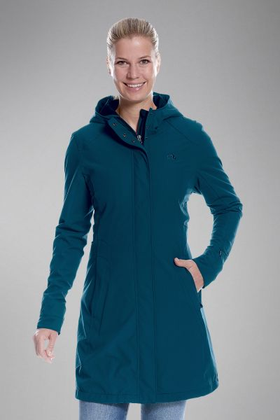 Tatonka Jons W's Hooded Long Coat teal green grün Mäntel 4013236303520