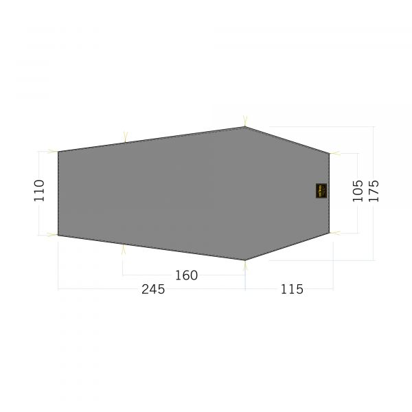 Tatonka Floor Sheet LT Gargia 3 stone grey olive grau Zelt- & Tarpzubehör 4013236340259