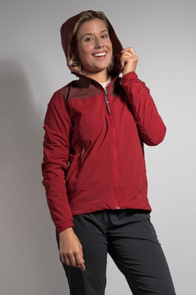 Tatonka Lajus W's Hooded Jacket aubergine/lava red rot Jacken 4013236302189