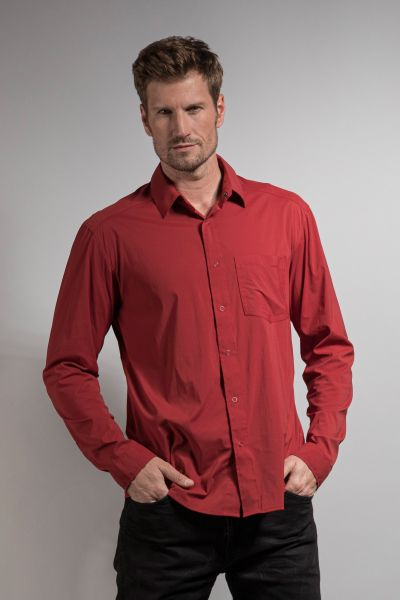 Tatonka Sejo M's Long Sleeve Shirt lava red rot Hemden 4013236295887