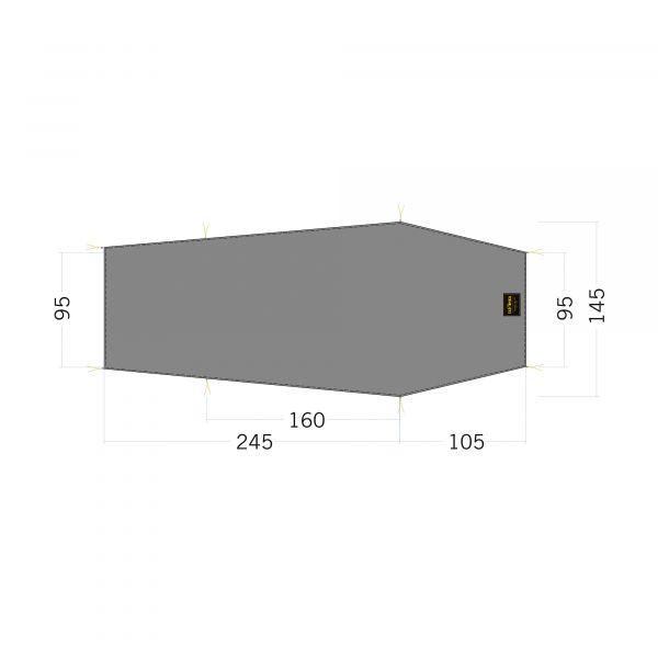 Tatonka Floor Sheet LT Gargia 2 stone grey olive grau Zelt- & Tarpzubehör 4013236340242