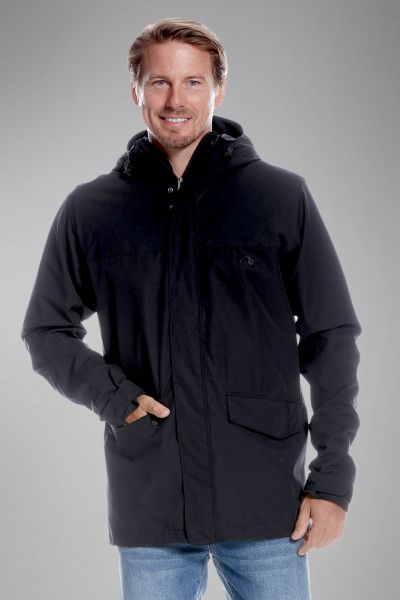 Tatonka Jons M's Hooded Jacket dark black schwarz Jacken 4013236300055