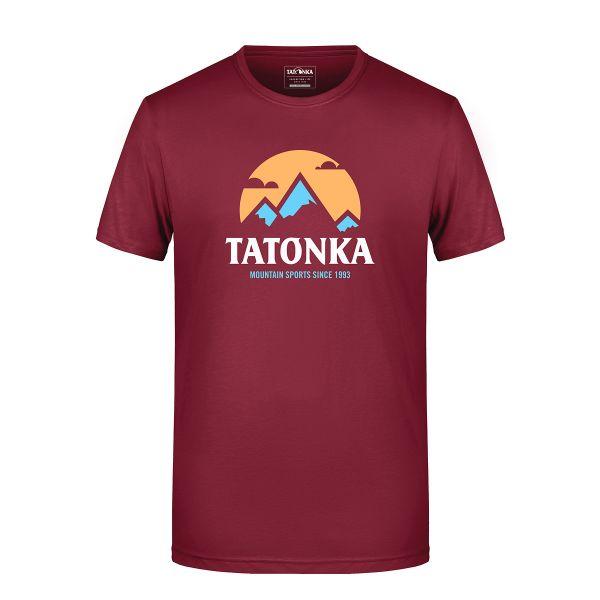 Tatonka Mountain T-Shirt Men wine rot T-Shirts 4013236315059