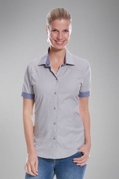 Tatonka Luti W's Short Sleeve Shirt light grey grau Blusen & Hemden 4013236289664