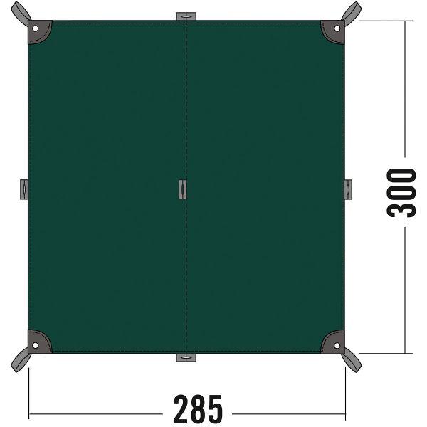 Tatonka Tarp 2 bazil grün Tarps 4013236056174