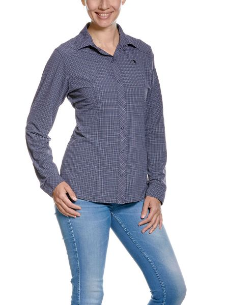 Tatonka Nilo W's LS-Shirt matt blue blau Blusen & Hemden 4013236972276