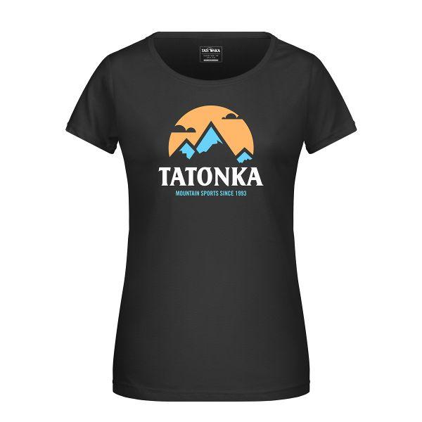 Tatonka Mountain T-Shirt Women black schwarz T-Shirts 4013236314892