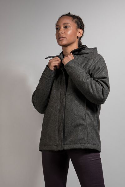 Tatonka Vejr W's Hooded Padded Jacket pebble grey grau Jacken 4013236312928