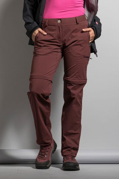 Tatonka Mariso W's Zip Off Pants aubergine red rot Hosen 4013236266818