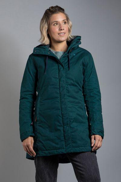 Tatonka Malava W's Hooded Coat teal green grün Jacken 4013236311273