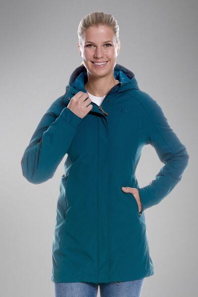 Tatonka Jons W's Hooded Coat teal green grün Jacken 4013236290806