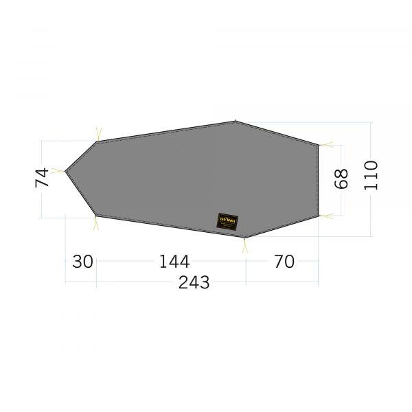 Tatonka Floor Sheet LT Kyrkja stone grey olive grau Zelt- & Tarpzubehör 4013236340235