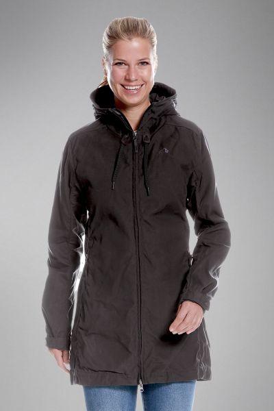 Tatonka Vinjo W's Hooded Coat dark grey grau Jacken 4013236300901