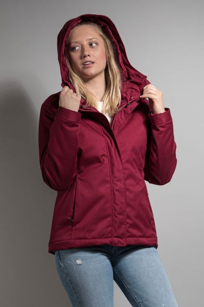 Tatonka Jonno W's Hooded Jacket cherry red rot Jacken 4013236306453
