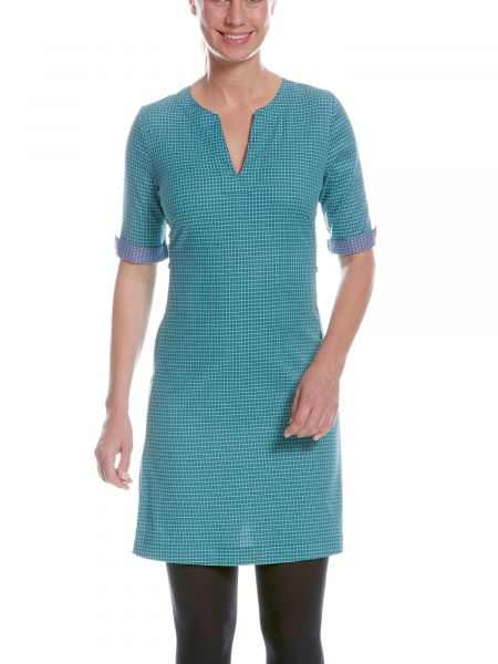Tatonka Luti W's Short Sleeve Dress teal green grün Röcke & Kleider 4013236299779