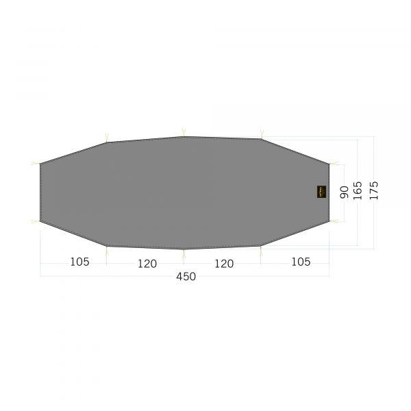 Tatonka Floor Sheet LT Rokua 3 stone grey olive grau Zelt- & Tarpzubehör 4013236340273