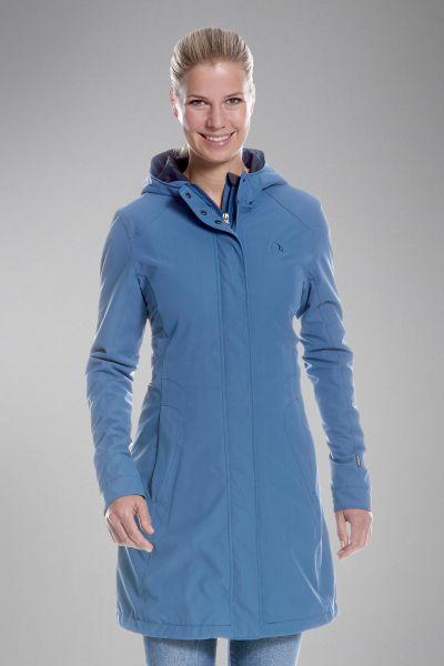 Tatonka Jons W's Hooded Long Coat lighter blue blau Mäntel 4013236301694