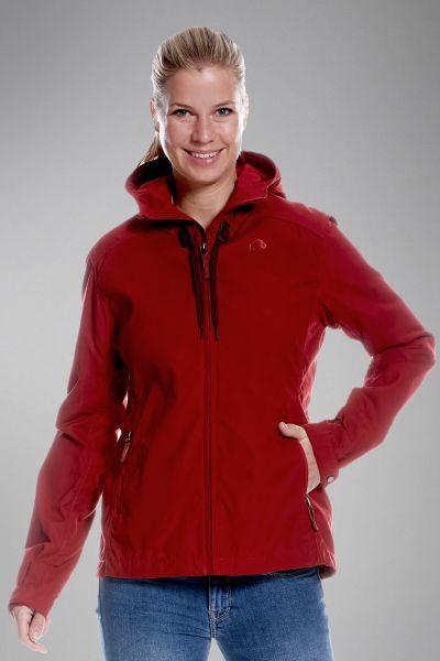 Tatonka Vinjo W's Hooded Jacket lava red rot Jacken 4013236293074