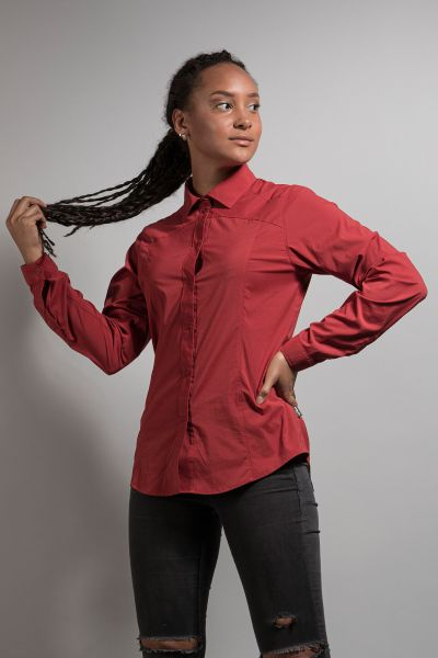 Tatonka Sejo W's Long Sleeve Shirt lava red rot Blusen & Hemden 4013236342147