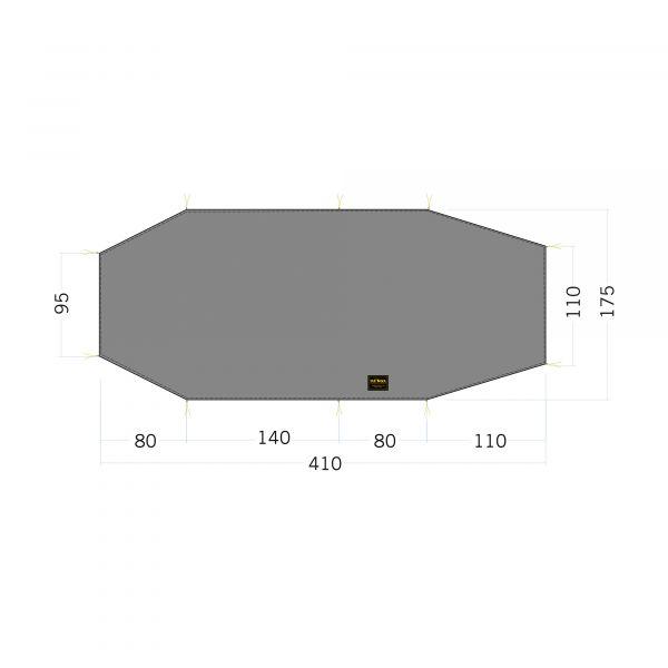 Tatonka Floor Sheet LT Polar 3 stone grey olive grau Zelt- & Tarpzubehör 4013236340297
