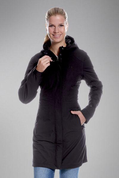 Tatonka Jons W's Hooded Long Coat dark black schwarz Mäntel 4013236301830