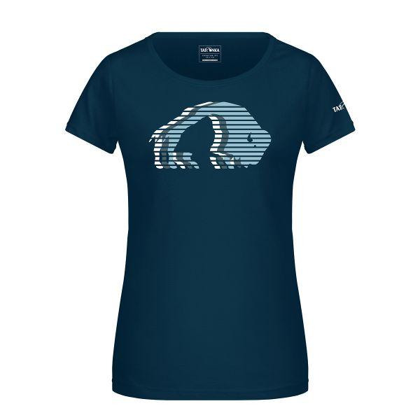 Tatonka Logo T-Shirt Women petrol blau T-Shirts 4013236314595
