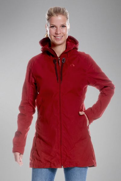 Tatonka Vinjo W's Hooded Coat lava red rot Jacken 4013236300970