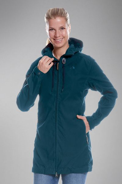 Tatonka Vinjo W's Hooded Coat teal green grün Jacken 4013236303971