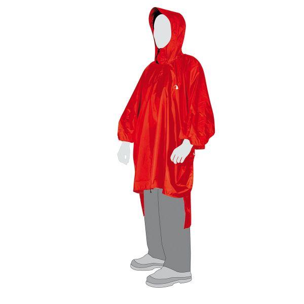 Tatonka Poncho 1 (XS-S) red rot Regenponchos 4013236985252