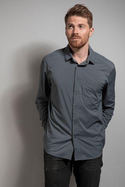 Tatonka Sejo M's Long Sleeve Shirt grey shadow grau Hemden 4013236295931