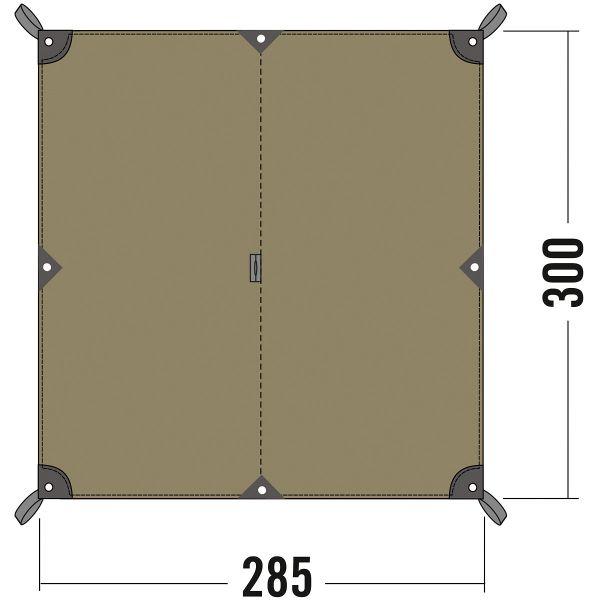 Tatonka Tarp 2 TC cocoon grün Tarps 4013236945690
