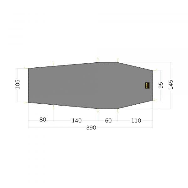 Tatonka Floor Sheet LT Okisba stone grey olive grau Zelt- & Tarpzubehör 4013236340280
